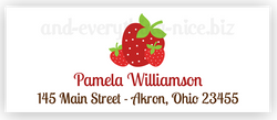 Strawberry e Return Address Labels • Self Adhesive Stickers