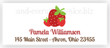 Strawberry e Return Address Labels • Self Adhesive Stickers Return Address Labels - Everything Nice