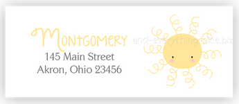 Sunshine Return Address Labels • Self Adhesive Stickers Return Address Labels - Everything Nice