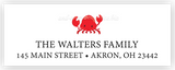 Crab Return Address Labels • Self Adhesive Stickers