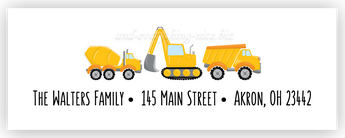 Construction II Address Labels • Self Adhesive Stickers Return Address Labels - Everything Nice