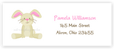 Bunny Rabbit II Return Address Labels • Self Adhesive Stickers Return Address Labels - Everything Nice