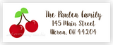 Cherries II Return Address Labels • Self Adhesive Stickers Return Address Labels - Everything Nice