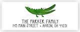 Alligator Return Address Labels • Self Adhesive Stickers Return Address Labels - Everything Nice