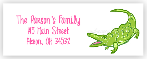 Alligator II Return Address Labels • Self Adhesive Stickers