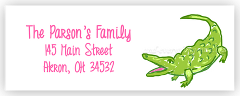Alligator II Return Address Labels • Self Adhesive Stickers Return Address Labels - Everything Nice