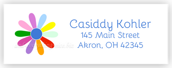Rainbow Daisy Address Labels • Self Adhesive Stickers Return Address Labels - Everything Nice