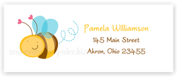 Cute Bumble Bee Return Address Labels • Self Adhesive Stickers