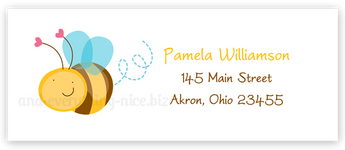 Cute Bumble Bee Return Address Labels • Self Adhesive Stickers Return Address Labels - Everything Nice