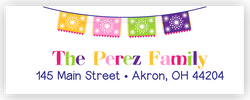 Fiesta Address Labels • Self Adhesive Stickers Return Address Labels - Everything Nice