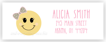 Bow Emoji Address Labels • Self Adhesive Stickers Return Address Labels - Everything Nice