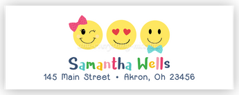 Emoji Address Labels • Self Adhesive Stickers Return Address Labels - Everything Nice