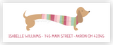 Dachshund Dog b Return Address Labels • Self Adhesive Stickers Return Address Labels - Everything Nice