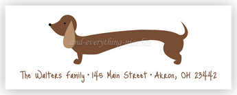 Dachshund Dog Return Address Labels • Self Adhesive Stickers Return Address Labels - Everything Nice