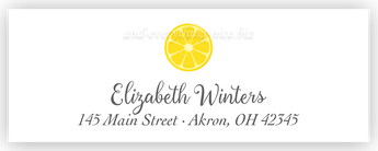 Lemon Return Address Labels • Self Adhesive Stickers Return Address Labels - Everything Nice