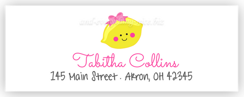 Girl Lemon Return Address Labels • Self Adhesive Stickers Return Address Labels - Everything Nice