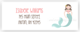 Mermaid b Address Labels • Self Adhesive Stickers Return Address Labels - Everything Nice