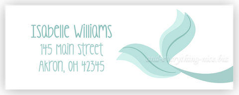 Mermaid Tail Address Labels • Self Adhesive Stickers Return Address Labels - Everything Nice