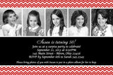 Adult Photo Birthday Party Invitation m • Any Colors Adult Photo Birthday Invitations - Everything Nice