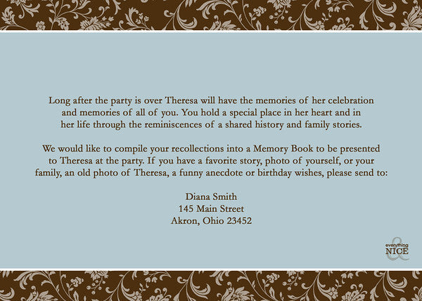 Adult Birthday Party Invitation S O Any Colors Everything Nice