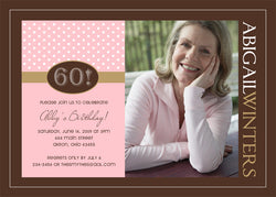 Adult Photo Birthday Party Invitation i • Any Colors Adult Photo Birthday Invitations - Everything Nice