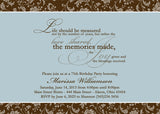 Adult Birthday Party Invitation s • Any Colors Adult Photo Birthday Invitations - Everything Nice