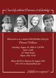 Adult Photo Birthday Party Invitation • Any Colors Adult Photo Birthday Invitations - Everything Nice