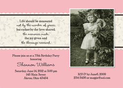 Adult Photo Birthday Party Invitation d • Any Colors Adult Photo Birthday Invitations - Everything Nice