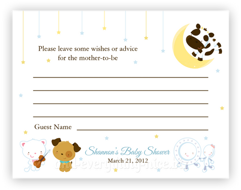 Hey Diddle Diddle Nursery Rhyme •  Advice or Wishes Card