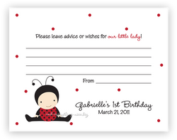 Baby Ladybug •  Advice or Wishes Card Advice Cards - Everything Nice