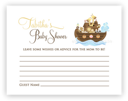 Noahs Ark •  Advice or Wishes Card Advice Cards - Everything Nice