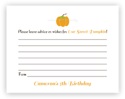 Pumpkin •  Advice or Wishes Card