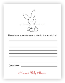 Bunny Rabbit III •  Advice or Wishes Card Advice Cards - Everything Nice