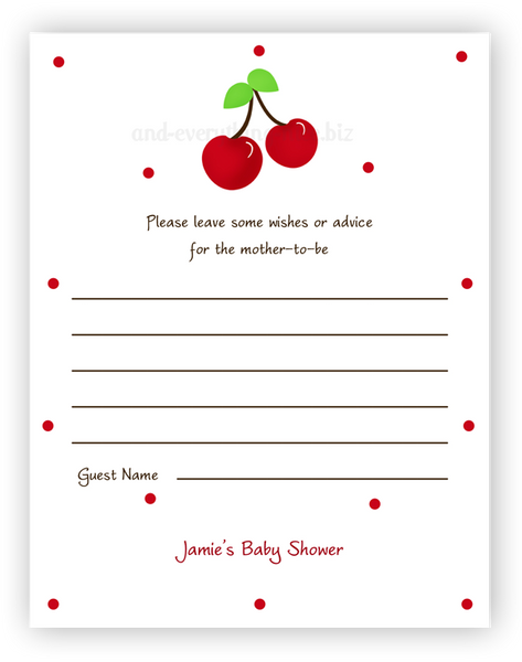 Cherries •  Advice or Wishes Card