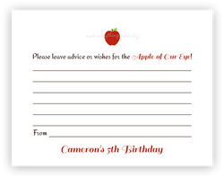 Apple •  Advice or Wishes Card Advice Cards - Everything Nice