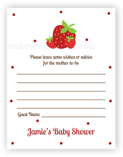 Strawberries •  Advice or Wishes Card