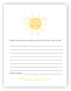 Sunshine •  Advice or Wishes Card