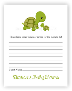 Turtle •  Advice or Wishes Card