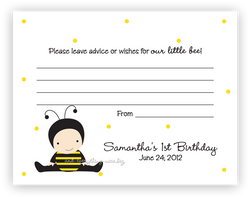 Baby Bee •  Advice or Wishes Card Advice Cards - Everything Nice