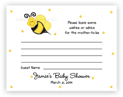 Bumble Bee III •  Advice or Wishes Card Advice Cards - Everything Nice