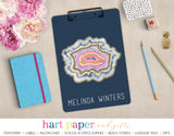 Rainbow Agate Geode Personalized Clipboard School & Office Supplies - Everything Nice
