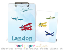 Airplane Personalized Clipboard School & Office Supplies - Everything Nice