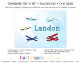 Airplane Personalized Pillowcase Pillowcases - Everything Nice