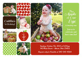 Apple of My Eye Photo Birthday Party Invitation • Apple Picking Fall Harvest Autumn • Any Colors Kids Photo Birthday Invitations - Everything Nice