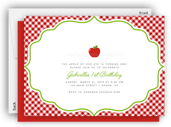 Apple Party Invitation • Baby Shower Birthday Picnic • Any Colors Kids Birthday Invitations - Everything Nice