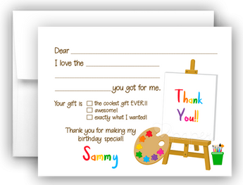 Art Thank You Cards Note Card Stationery •  Fill In the Blank Stationery Thank You Cards - Everything Nice