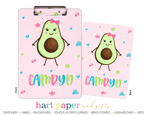 Avocado Personalized Clipboard School & Office Supplies - Everything Nice