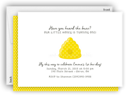 Bumble Bee Hive Party Invitation • Baby Shower Birthday • Any Colors Baby Shower Invitations - Everything Nice