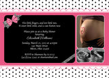 Dotty Photo Baby Shower Invitation • Any Colors Baby Shower Photo Invitations - Everything Nice