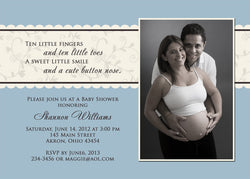 Vintage Photo Baby Shower Invitation • Any Colors Baby Shower Photo Invitations - Everything Nice